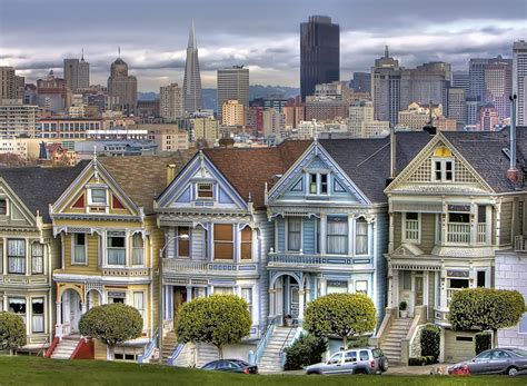 Victorian Houses Of San Francisco Photo