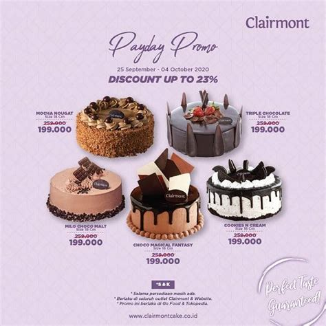 clairmont patisserie payday party discount