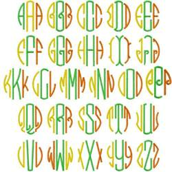 Free Circle Monogram Embroidery Fonts