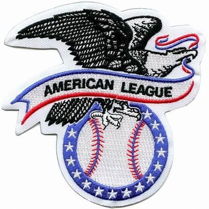 League American Patch Baseball Major Mlb Emblem