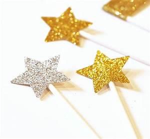 Sterne Zum Basteln : 24 silberne glitzer sterne zum dekorieren und basteln ~ Lizthompson.info Haus und Dekorationen