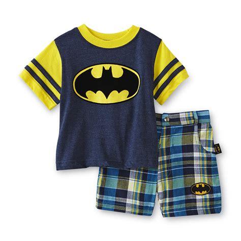 dc comics batman infant toddler boy s t shirt shorts plaid clothing baby clothing
