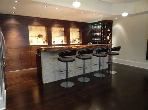 Contemporary Bar Designs by Modern Walnut Basement Bar Modern Basement Atlanta