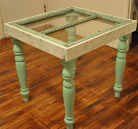 Repurposed , Reclaimed, Upcycled Antique Window Table