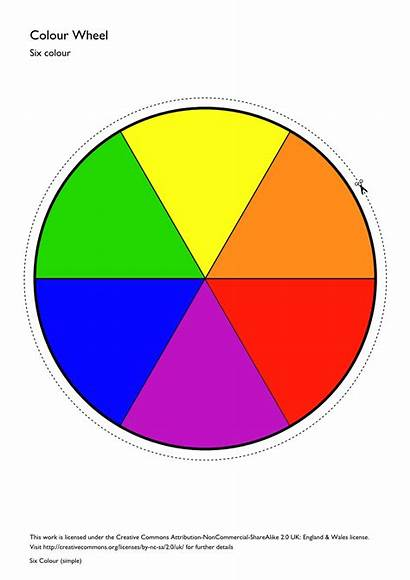 Wheel Colour Primary Colors Simple Printable Six