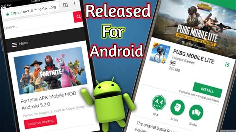 fortnite android release pubg mobile lite  android
