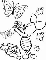 Pooh Coloring Winnie Piglet Pages Disney Printable Butterfly Adult Flower Character Eeyore Flowers Quotes Sheets Cute Popular Coloringhome Colouring Characters sketch template
