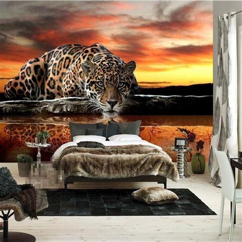 beibehang photo wallpaper high quality tiger leopard silk