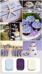 blue and purple wedding inspiration board for beach With lilac beach wedding invitations