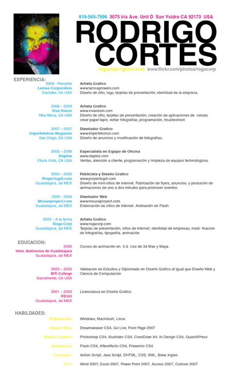 Resume En Espanol by Sle Of A Resume Exle Resume How To