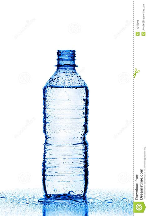 plastic bottle  water isolated  white stock