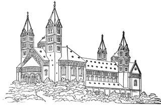 romanesque church clipart