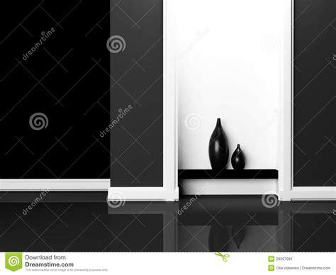 vasi neri due vasi neri sullo scaffale illustrazione di stock