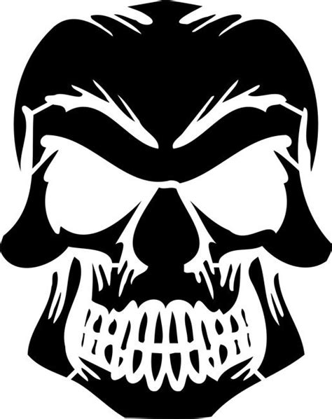 skull pumpkin carving templates 40 best vinilos images on pinterest vinyls silhouettes and stencil