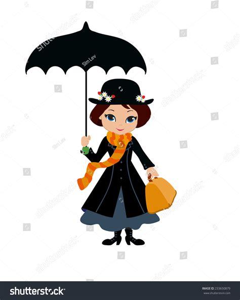 mary poppins umbrella stock vector  shutterstock