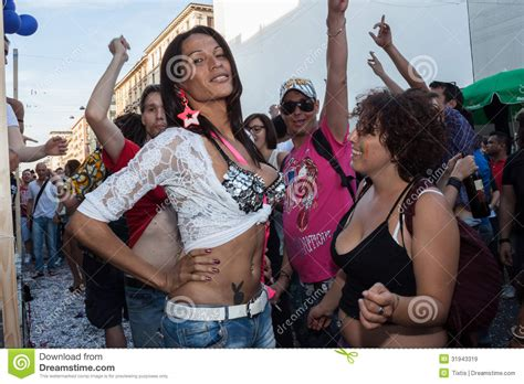 People At Gay Pride Parade 2013 In Milan, Italy Editorial Stock Image - Image: 31943319