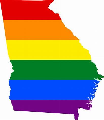 Georgia State Svg Flag Map Lgbt Commons