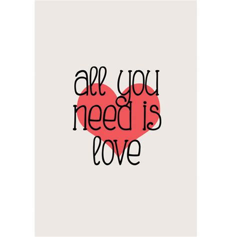 Poster Beatles All You Need Is Love  Encadreé Posters