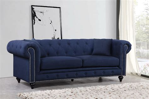 Navy Sofa by Chesterfield Sofa Navy By Meridian Furniture Furniturepick