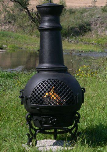 chiminea blue rooster the blue rooster cast aluminum gatsby chiminea in charcoal