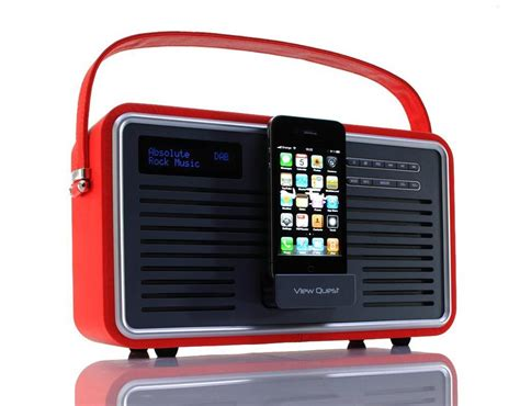 view quest retro dab radio and dock speaker for iphone and ipod gadgetsin