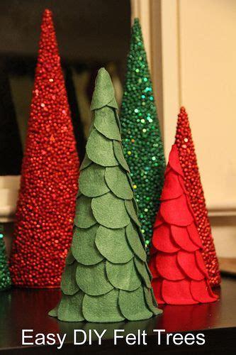 kids christmas crafts felt trees crafts diys