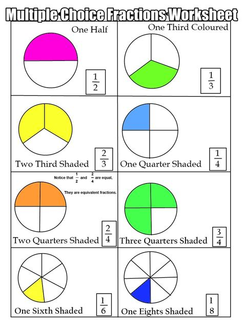 beginner fraction worksheets free printable division