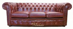 Chesterfield 3 seater settee old english chestnut leather sofa for Sofa vs couch english