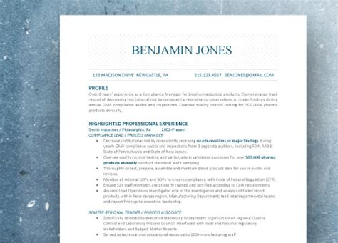 resume sles from standout resumes llc standout