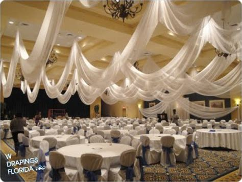 How To Hang Ceiling Drapes For A Wedding by W Drapings Florida Ceiling Drapings And Wedding Chiffon