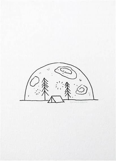 Easy Drawing Drawings Nature Whimsical Moon Funny