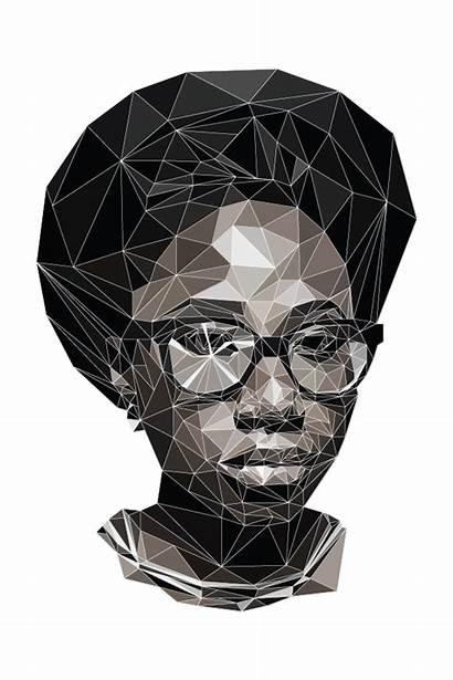 Asa Portrait Behance Polygons Figueira Andrea