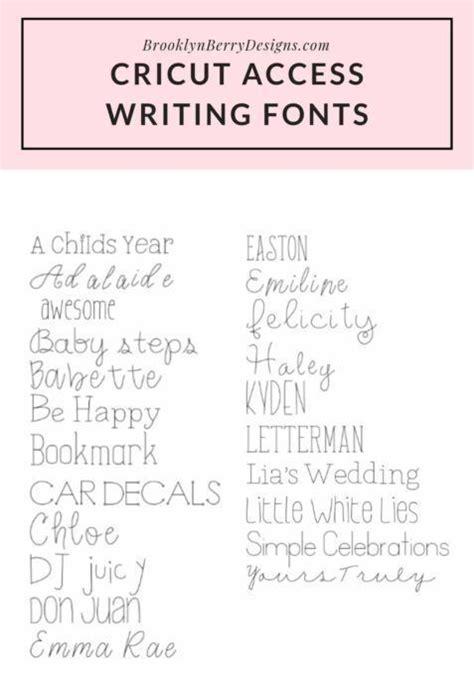 cricut access fonts  fonts  cricut writing