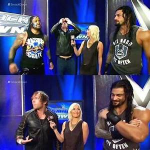 roman reigns dean ambrose jimmy renee young roman With renee young wedding ring