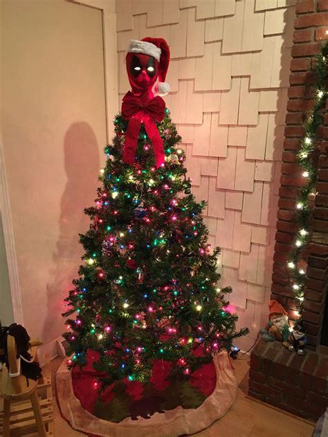 deadpool tree topper nerd stuff christmas crafts