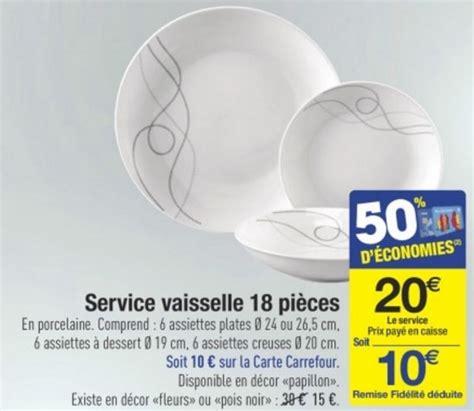 service a vaisselle carrefour carrefour service vaisselle porcelaine 18 pi 232 ces 224 10