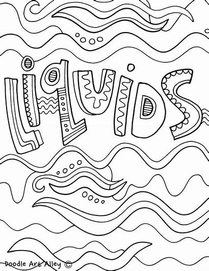 Matter States Coloring Pages Liquids Drawing Printables