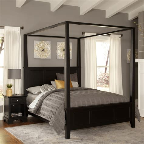 home styles bedford canopy  piece bedroom set reviews
