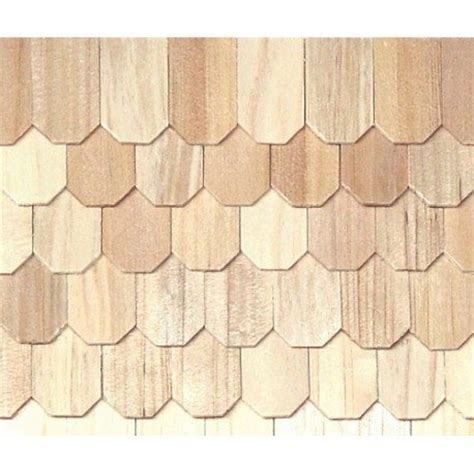 Octagon Butt Shingle/1000   Dollhouse Roofing & Shingles
