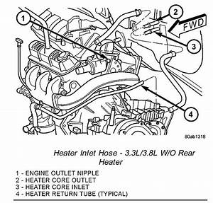 How Can I Bypass Metal Heater Tube In Back Of The Engine