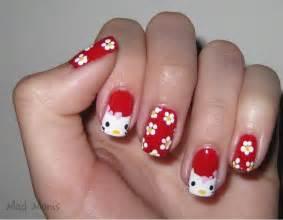Hello kitty nail art designs acrylic