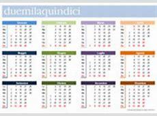 Calendario 2015 mensile in PDF da stampare