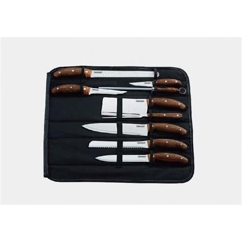 malette de couteau de cuisine set de couteaux de cuisine 10 pcs cenocco cc 9010