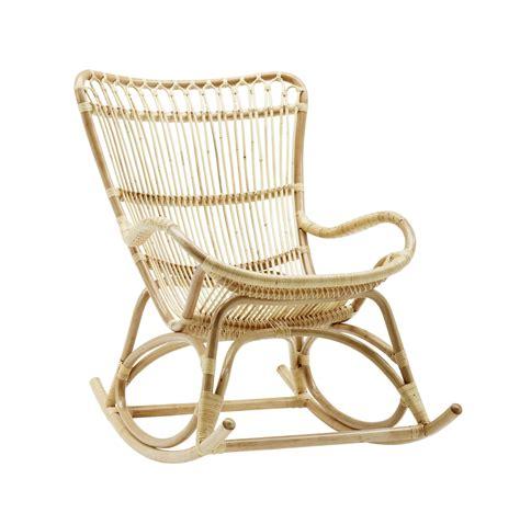 rocking chair en rotin rocking chair rotin vintage sika design brin d ouest