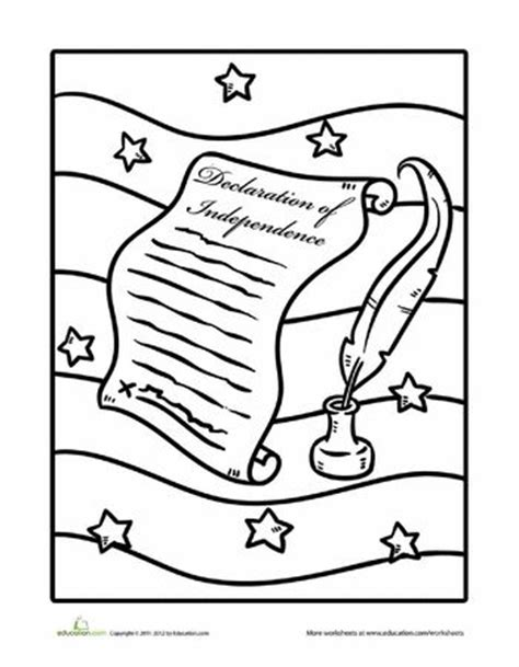 declaration  independence coloring page declaration