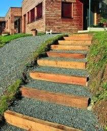 un escalier exterieur avec des bastaings en meleze With photo de jardin de maison 13 decoration escalier exterieur