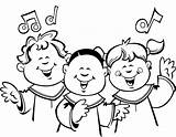 Choir Clipart Coloring Children Church Clip Singing Drawing Sketch Cliparts Child Clipartix Childrens Choirs Worship Library Pages Getdrawings Smile Template sketch template