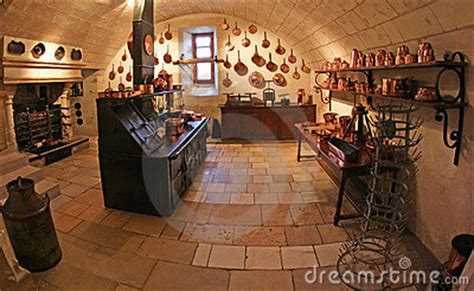 Medieval Kitchen At Chenonceau Castle In France Stock