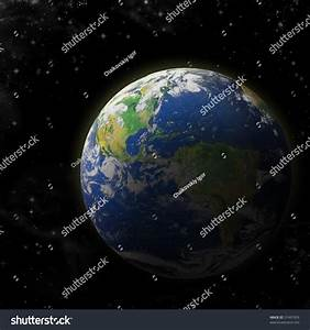 Real Earth Planet Deep Space Sunset Stock Illustration ...