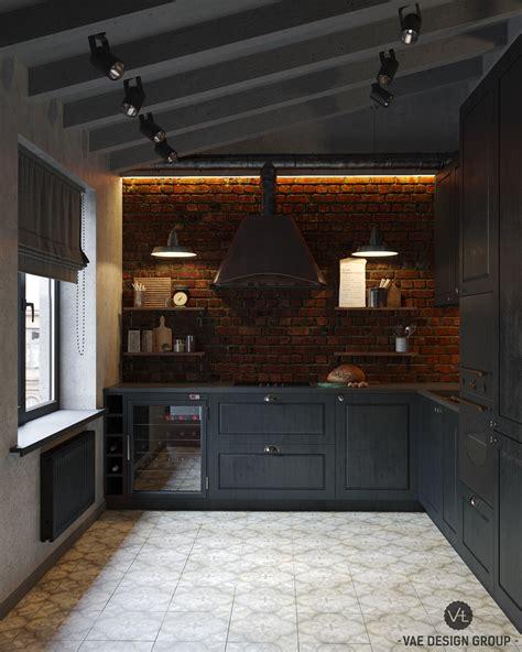 vae cuisine masculine loft by vae design